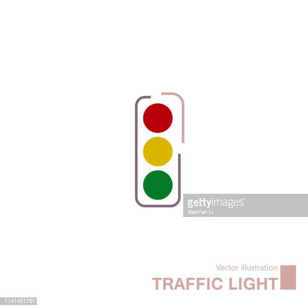traffic light sign - stoplight stock illustrations