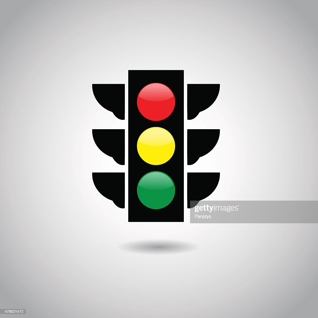 Traffic light signal icon.