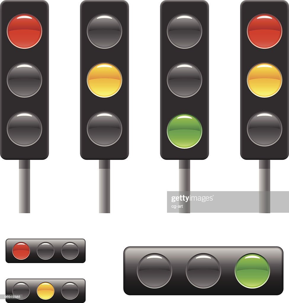 Traffic light signs, templates