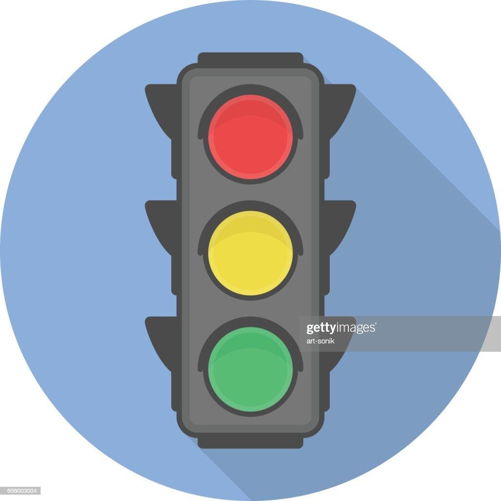 Traffic light vector icon.