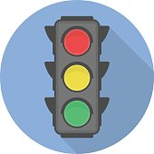 Traffic light vector icon.