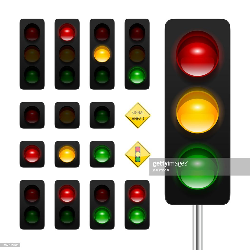 Traffic Lights Icon Set
