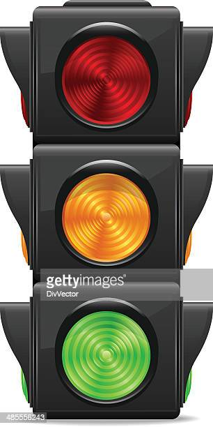 traffic lights - semaphore stock illustrations