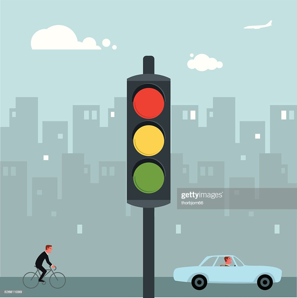 Traffic lights : stock illustration