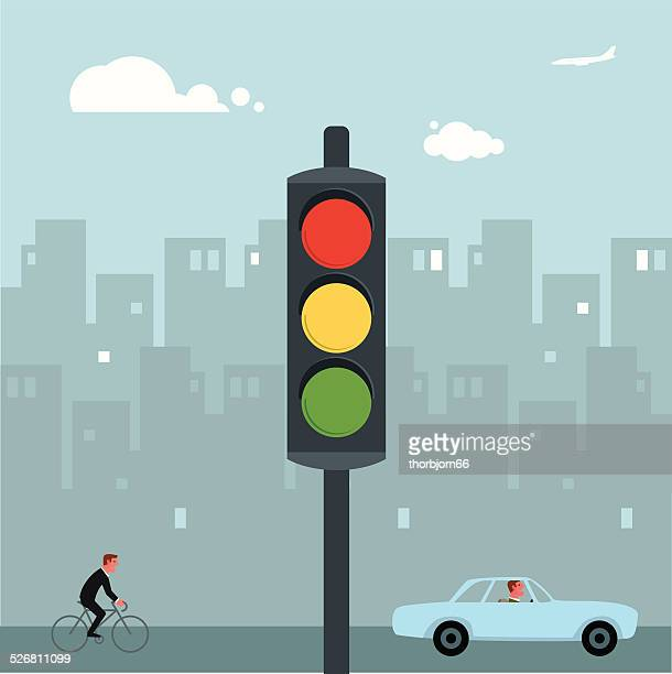traffic lights - stoplight stock illustrations