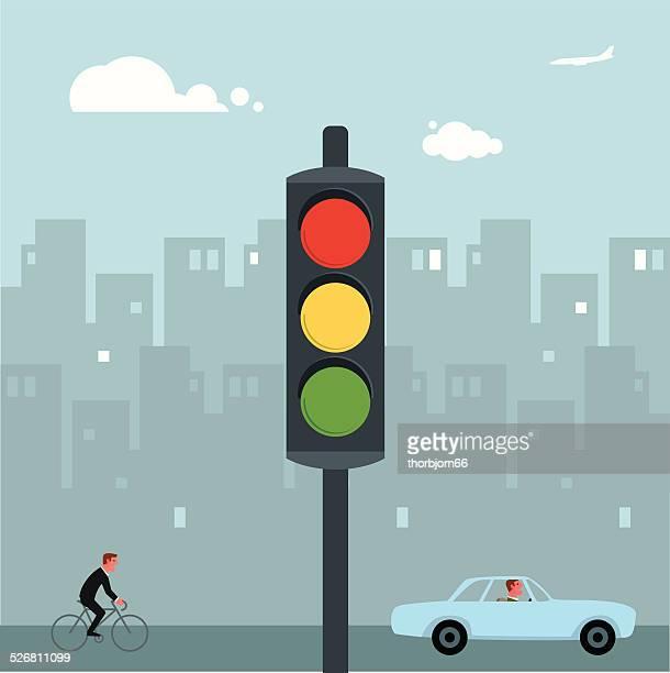 交通信号 - 交通信号機点のイラスト素材/クリップアート素材/マンガ素材/アイコン素材
