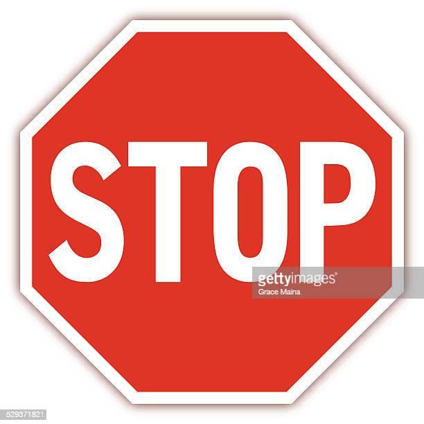illustrations, cliparts, dessins animés et icônes de feu de signalisation routière-illustration - panneau stop
