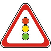 Traffic sign, road sign, semaphore, vector icon