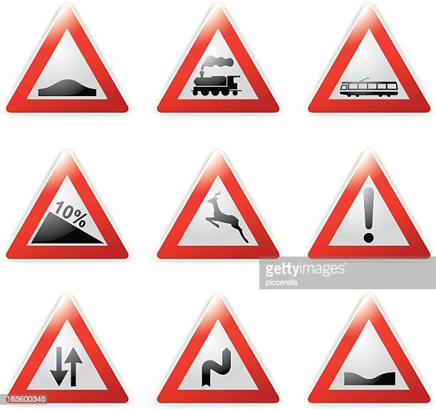 traffic signal - hill stock illustrations, clip art, cartoons, & icons
