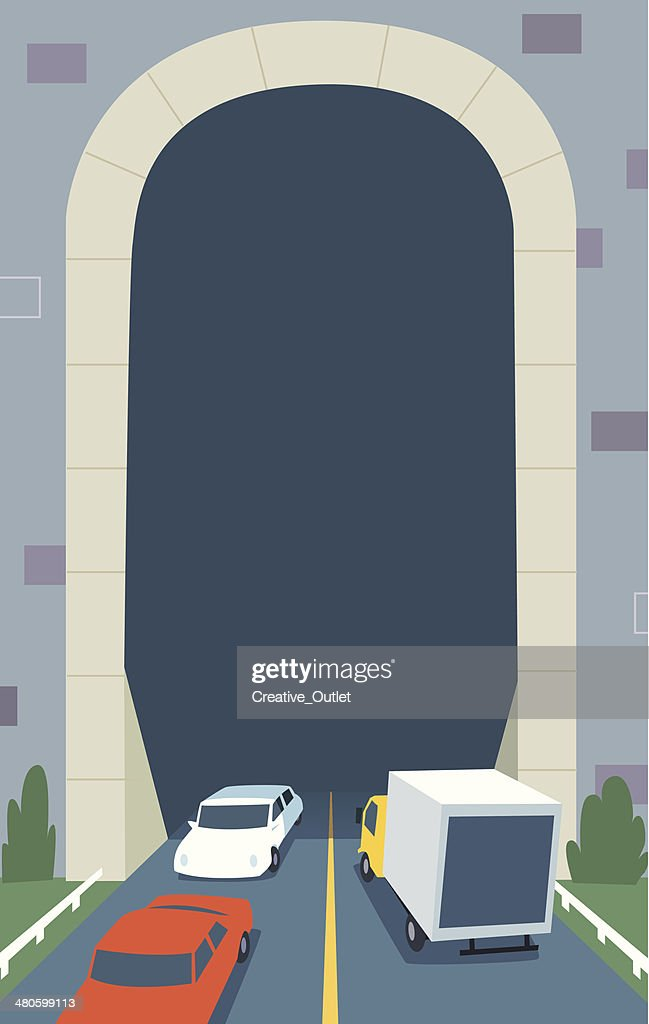 Traffic Tunnel C : Vector Art
