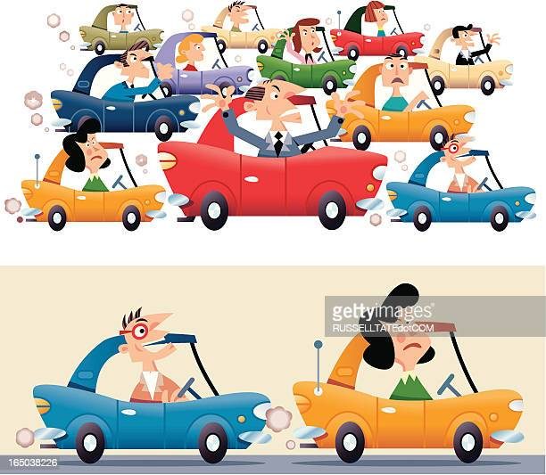 532 Traffic Jam High Res Illustrations Getty Images