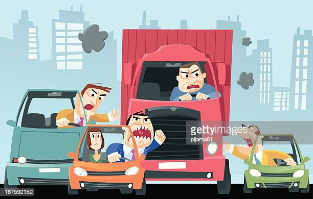 traffic - anger stock illustrations