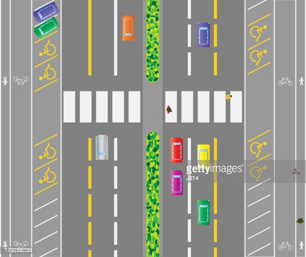 traffic - zebra crossing stock illustrations