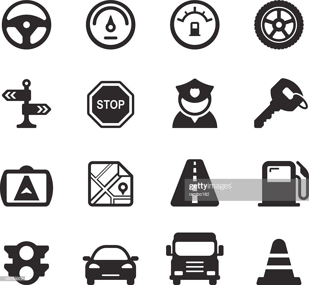 Traffic/Driving Icons : stock illustration