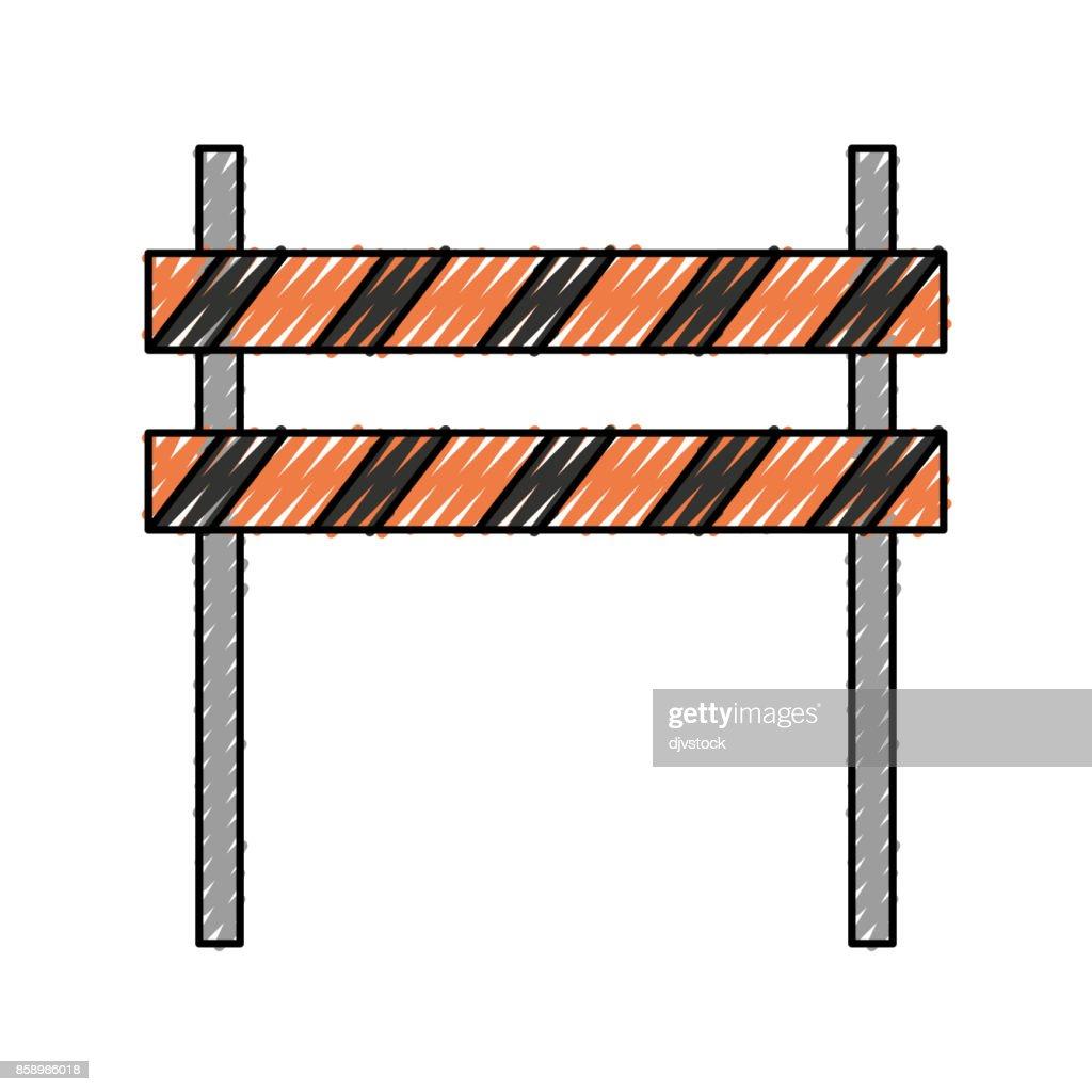 trafic barrier vector illustration