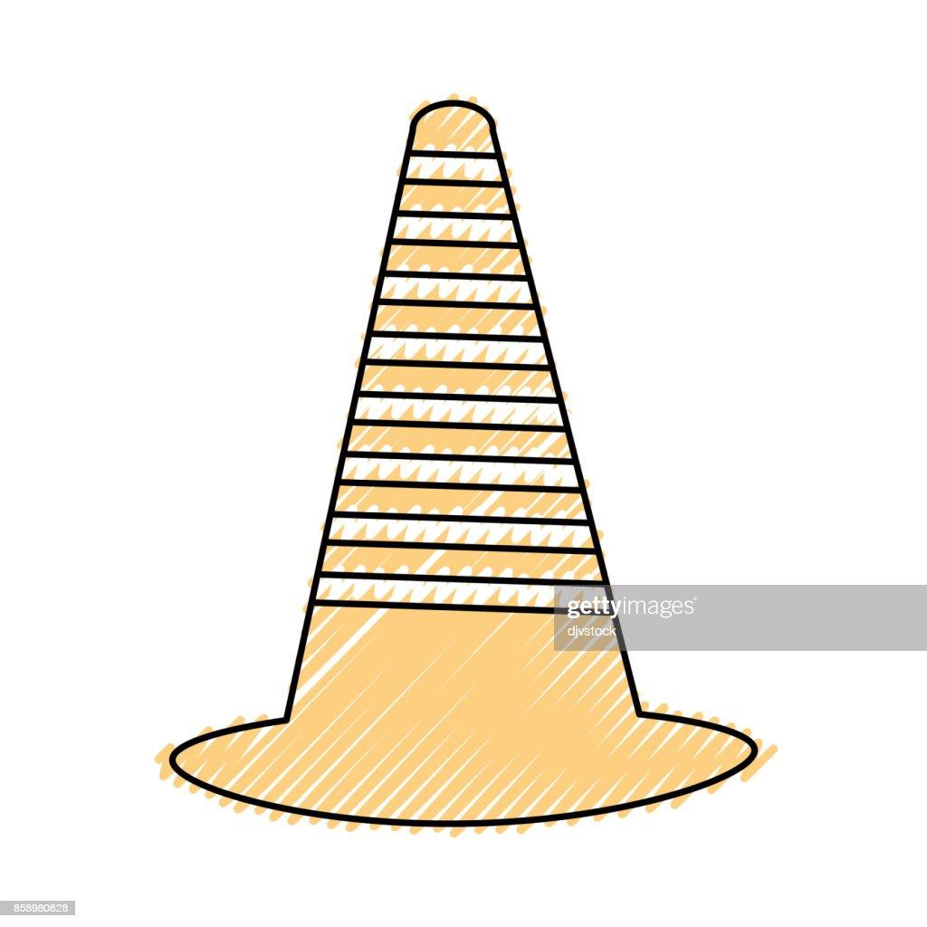 trafic cone vector illustration