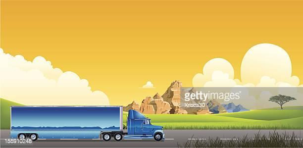 illustrations, cliparts, dessins animés et icônes de pour les camions à remorque - chauffeur routier
