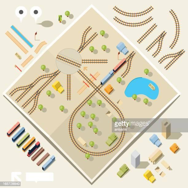 鉄道キット - 線路点のイラスト素材/クリップアート素材/マンガ素材/アイコン素材