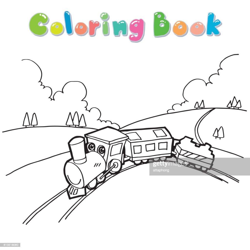 Tekenfilm Kleurplaten Boek Vector Trainen Vectorkunst Getty Images