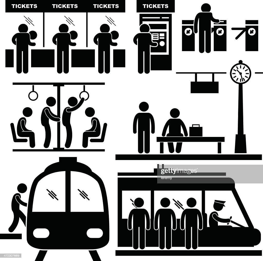 Train Commuter Station Subway Pictogram
