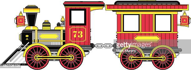 Train Engine and Carriage