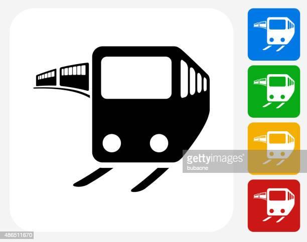 Train Icon Flat Graphic Design