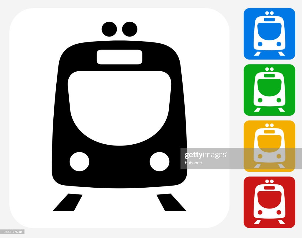 Train Icon Flat Graphic Design
