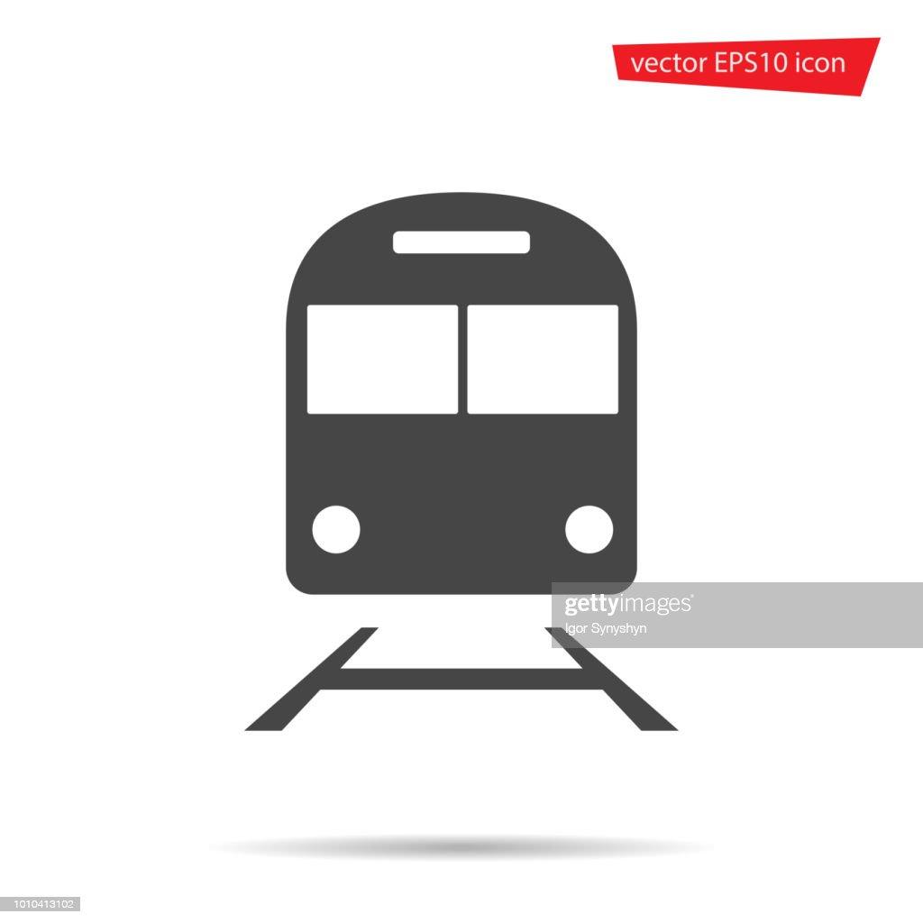 Train icon isolated. Modern flat metro pictogram, business, marketing, internet concept. Trendy Simp