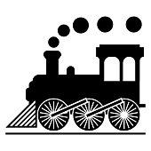 Train icon isolated on white background