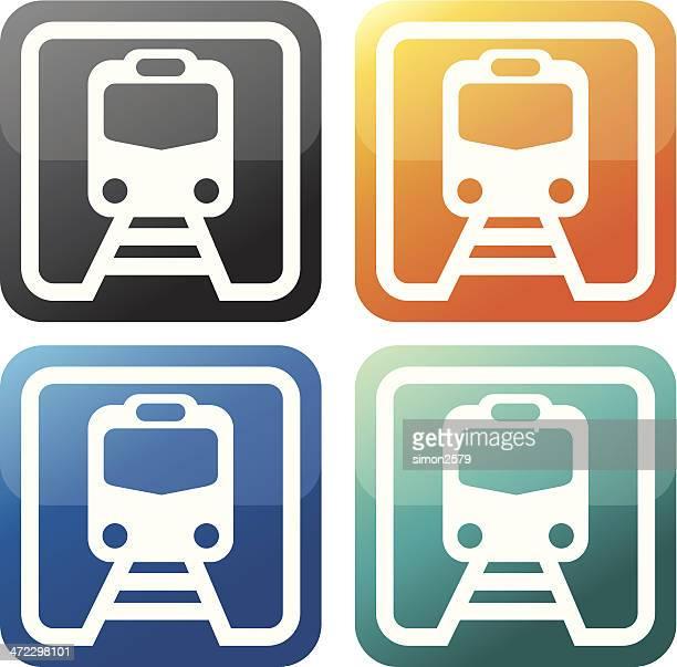 train icon set