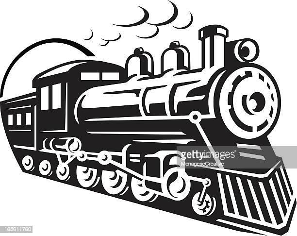 ilustrações, clipart, desenhos animados e ícones de ícone de trem - clip art
