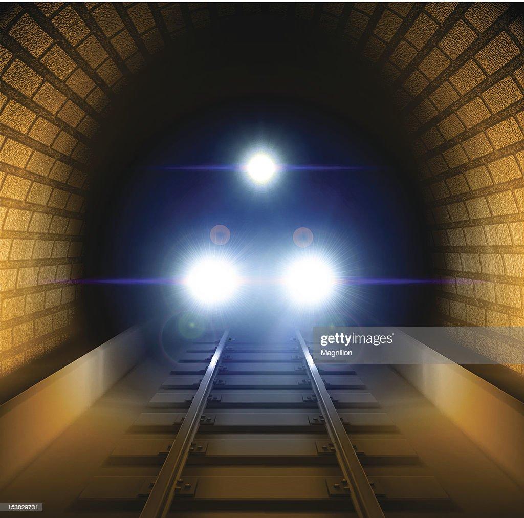 Train in tunnel : stock illustration