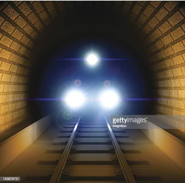 train in tunnel - subway train stock illustrations, clip art, cartoons, & icons