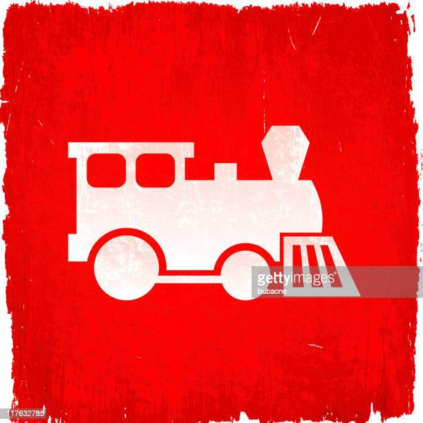 train on royalty free vector background - miniature train stock illustrations, clip art, cartoons, & icons