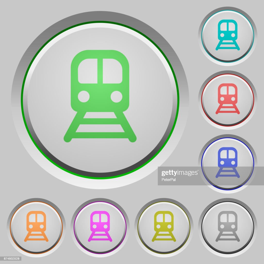 Train push buttons