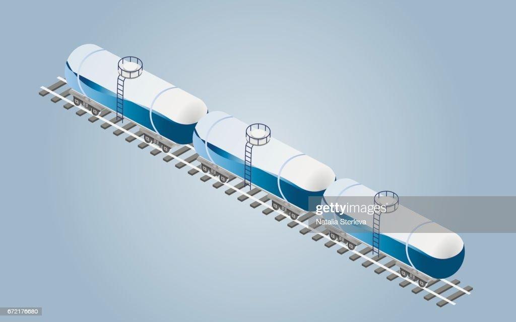 Train transportation, cargo wagons. Global train logistics. Transportation of oil, gas, sand. Railway cargo transport.