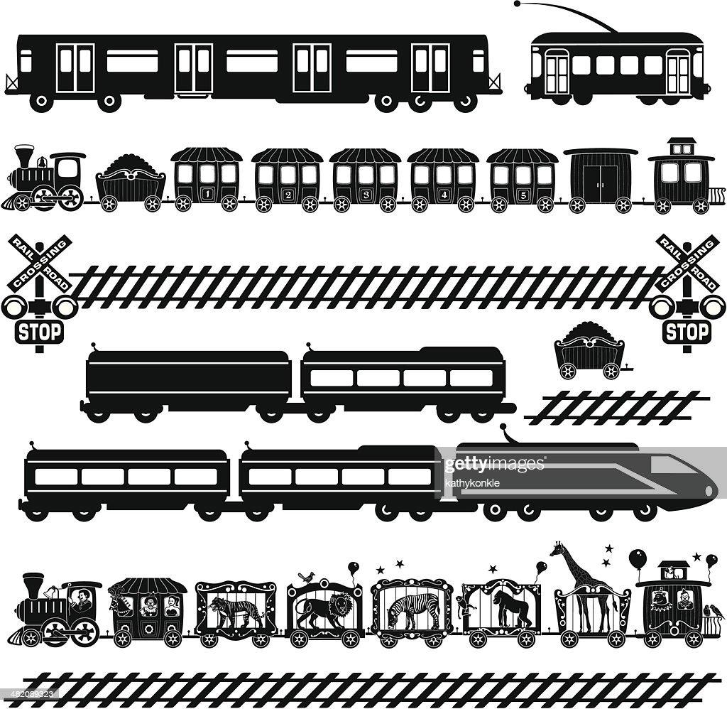 train travel : stock illustration