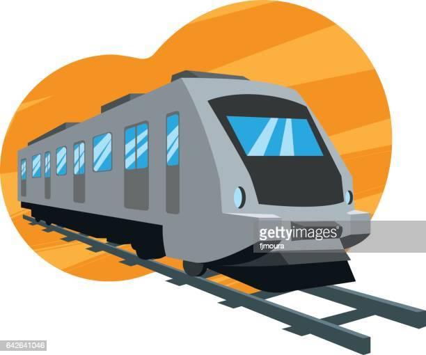 train - underground rail stock illustrations