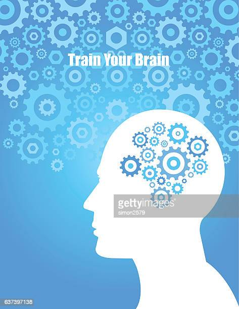 Train your brain concept background