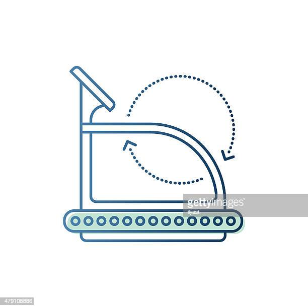 Trainer Treadmill Symbol
