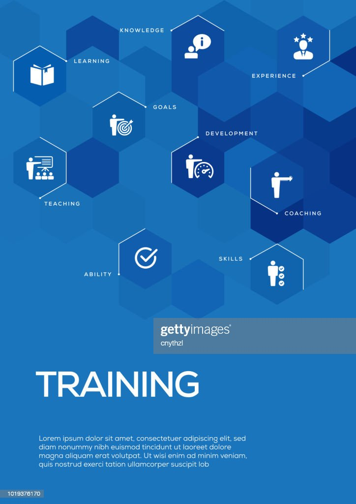 Training Brochure Template Layout Cover Design Vector Art Getty Images