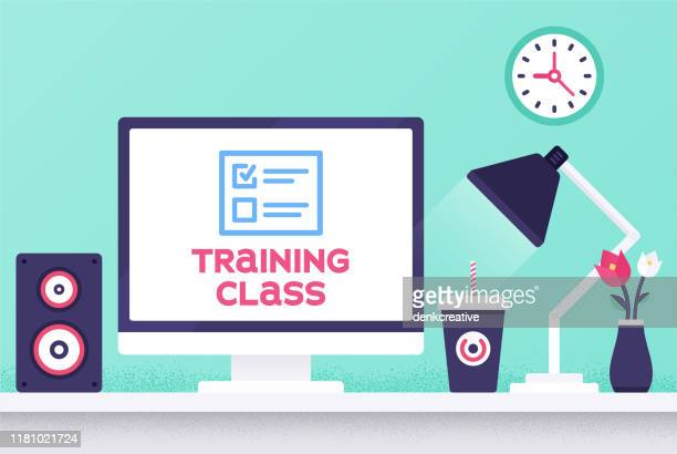 training class modern design layout - workshop stock illustrations