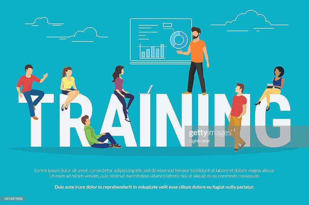 Training concept illustration