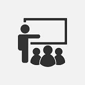 Training icon isolated on white background. Vector illustration.