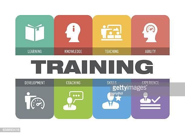 トレーニング アイコン セット - 研修点のイラスト素材/クリップアート素材/マンガ素材/アイコン素材