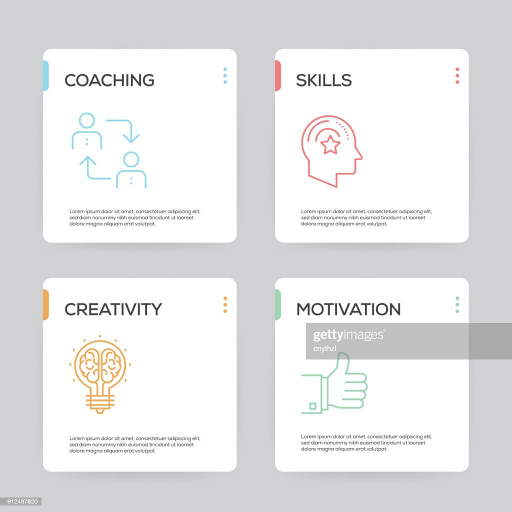 Training Infographic Design Template : stock illustration