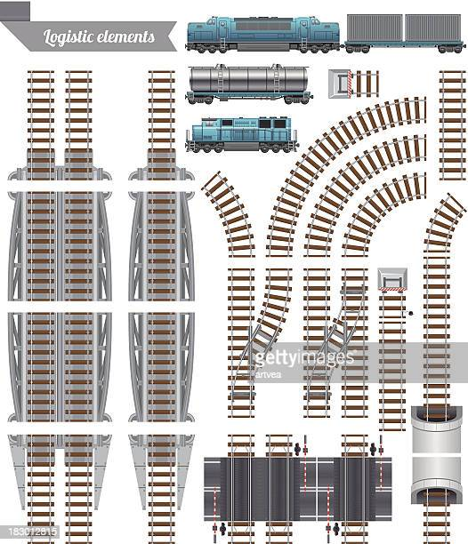 Trains Set and Railroad