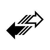 Transfer arrow icon flat vector illustration design