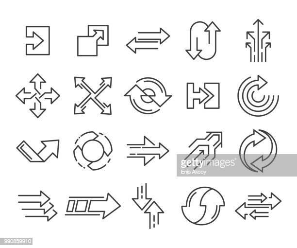 transform, action, directions and arrows icons - change stock illustrations