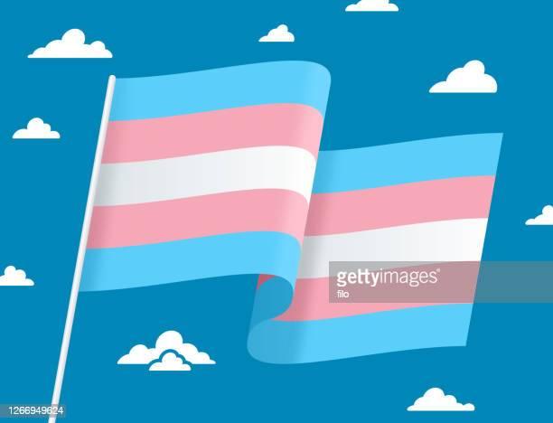 トランスジェンダーの旗 - ジェンダー・ステレオタイプ点のイラスト素材/クリップアート素材/マンガ素材/アイコン素材